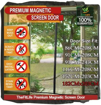 TheFitLife Magnetic Screen Doors