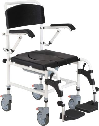 HOMCOM Shower Chairs With Wheels