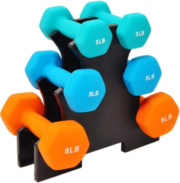 BalanceFrom Dumbbell Sets with Rack