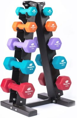 Fitness Alley Dumbbell Sets with Rack