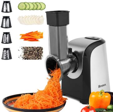 Homdox Best Electric Cheese Graters and Shredders