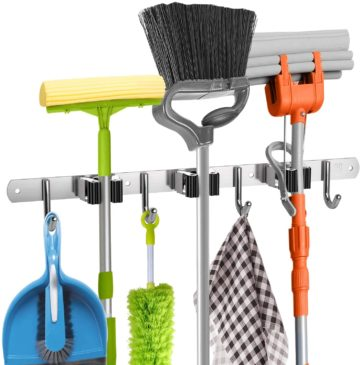 Homely Center Broom Holder Wall Mounts
