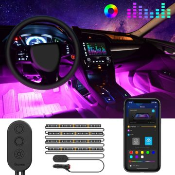MINGER Best LED Lights for Car Interior
