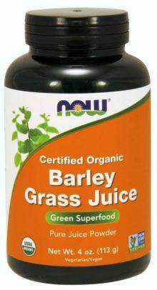 NOW Foods Organic Barley Grass Juice Powders