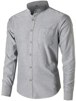Dioufond Mandarin Collar Shirts