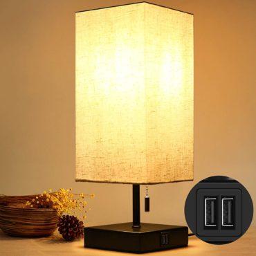 HOKEKI Bedside Table Lamps