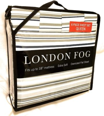 London Fog Best London Fog Sheet and Pillowcase Sets