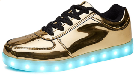 SANYES Gold Sneakers for Men and Women